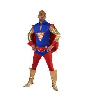Superkrachten Superheld Man Kostuum