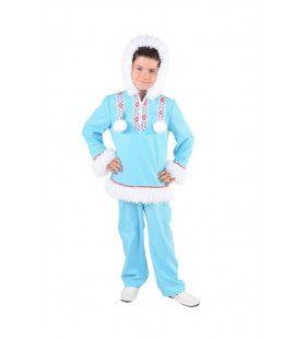 Lekker Warm Eskimo Sneeuwballen Kind Kostuum