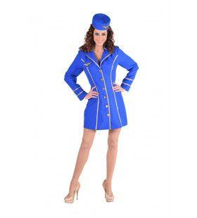 Blauw Burger Luchtvaart Stewardess Vrouw Kostuum
