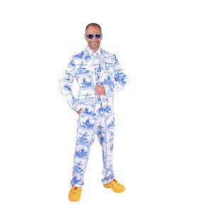 Traditionele Delfts Blauwe Tegel Man Kostuum