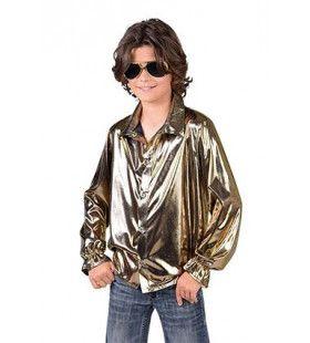 Gouden Glitter Folie Blouse Jongen