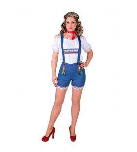 Tiroolse Hotpants Jeans Oktoberfest Vrouw Kostuum