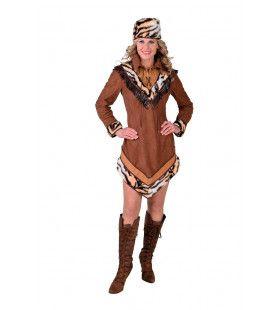 Lady David Crocket Trapper Wilde Westen Vrouw Kostuum