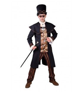 Machine Tandwielen Steampunk Man Kostuum