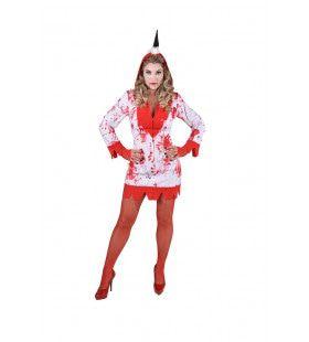 Eenhoorn Gegrepen Door De Draak Vrouw Kostuum