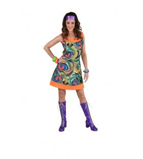 Vervagende Cirkels Vage Hippie Vrouw Kostuum