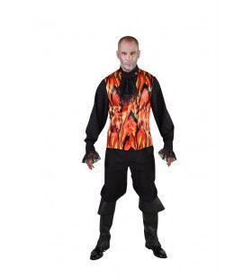 Hete Vlammen Hel Gilet Halloween Man