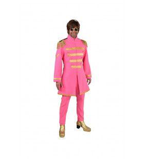 Roze Lonely Hearts Club Beatles Man Kostuum