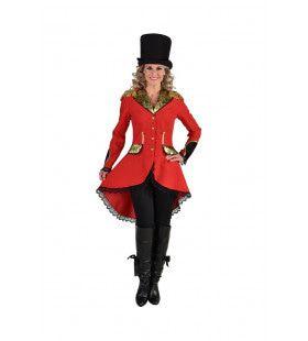 Jas Circusdirecteur Goud Brokaat Vrouw