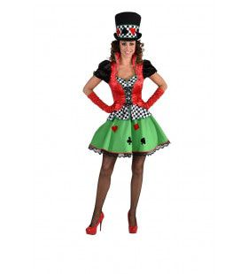 Poker Tafel Kaartspel Gok Vrouw Kostuum