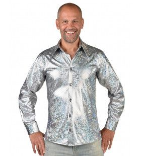 Zilveren Space Disco Blouse Man