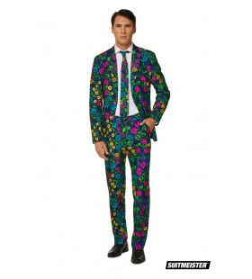 Liefelijke Ranken Vol Bloemen Man Kostuum