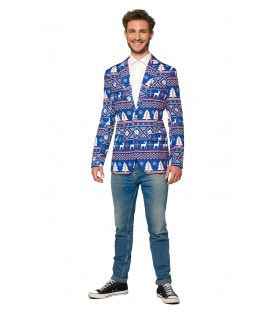 Christmas Blue Nordic Colbert Man