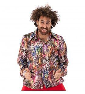 Multicolor Luipaard Shirt Foute Aso Pooier Man