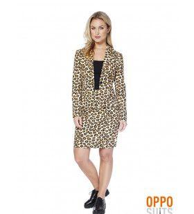 Luipaard Lady Jag Opposuit Vrouw Kostuum