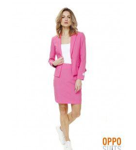 Roze Ms. Pink Opposuit Vrouw Kostuum