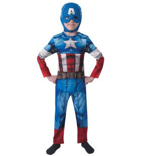 Captain America Classic Superheld Jongen Kostuum