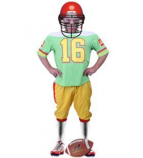 Highschool Bratt American Football Speler Jongen Kostuum