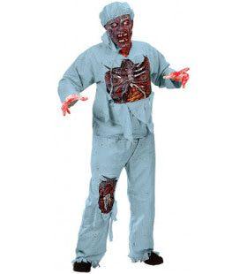 Opengewerkte Zombie Chirurg Man Kostuum
