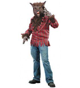 Amerikaanse Weerwolf Shirt Met Masker Man Kostuum