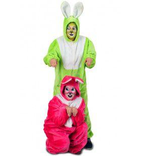 Pluche Neon Haas Groen Kostuum