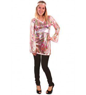 Glimmende Disco Meid Vrouw Kostuum