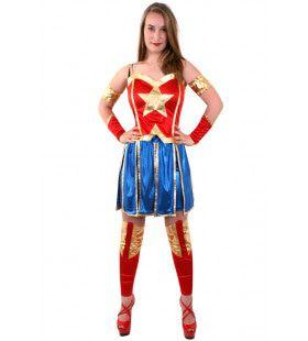 Miss America Superheldin Vrouw Kostuum
