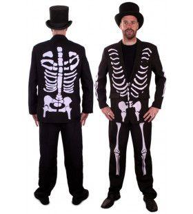 Keurig Herenkostuum Skelet Man Kostuum