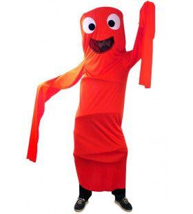 Grappig Windsock Kostuum Rood