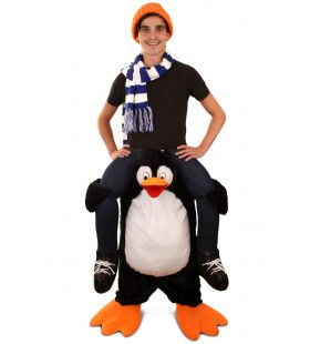 Gedragen Door Een Pinguin Kostuum
