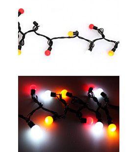 Verlichtingssnoer 50 Lampjes Rood Wit
