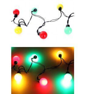 Verlichtingssnoer 20 Lampjes Geel Groen Rood Diameter 4 Centimeter
