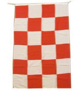 Vlag Brabant De Luxe Rood Wit 150x90 Centimeter
