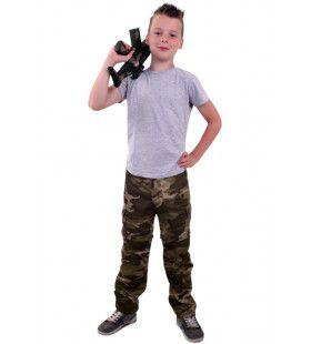 Bruine Camouflage Broek Oerwoud Commando Jongen