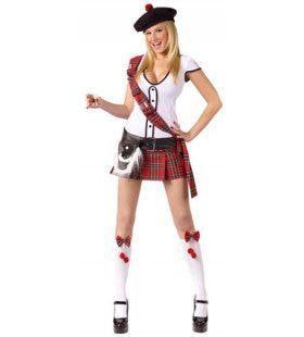 Scottie Hottie Highlander Vrouw Kostuum