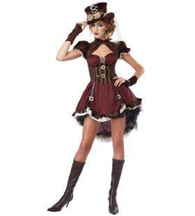 Steampunk 19e Eeuw Newcastle Vrouw Kostuum