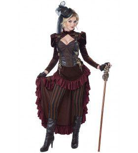 Victoriaans Steampunk Engeland Vrouw Kostuum