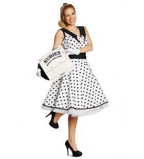 Filmster Audrey Jaren 50 Rock And Roll Vrouw Kostuum