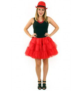 Rock And Roll Petticoat 3 Lagen Rood Vrouw