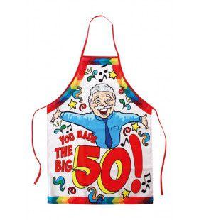 Keukenschort Abraham You Made The Big 50 Man