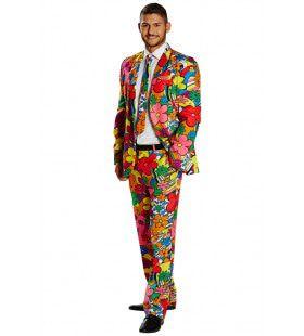 Bloemrijk Flower Power Man Kostuum