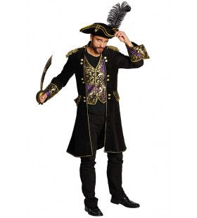 Piraten Jas Zwart Brokaat Piet Hein Man