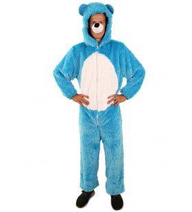 Zachte Blauwe Pluche Beer Kostuum