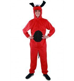 Flapoor Tekenfilm Hond Rood Man Kostuum