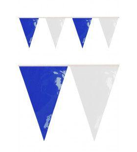 Pvc Vlaggenlijn Blauw-Wit 10 Mt