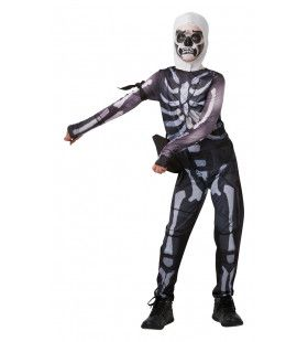 Skull Trooper Fortnite Tiener Kind Kostuum