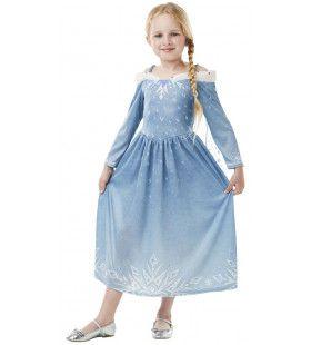 Elsa Prinses Olafs Frozen Avontuur Meisje Kostuum