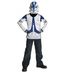 Clonetrooper Star Wars Masker En Shirt Kind