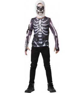 Magere Fortnite Skull Trooper Top Kind Kind Kostuum