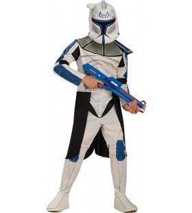 Star Wars Blauwe Clonetrooper Kind Kind Kostuum